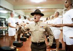 R Lee Ermey as Gunnery Sgt. Hartman in Full Metal Jacket 1987