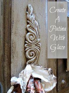 using glaze for patina