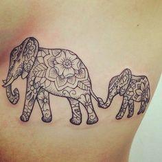 Image result for small mandala elephant tattoo