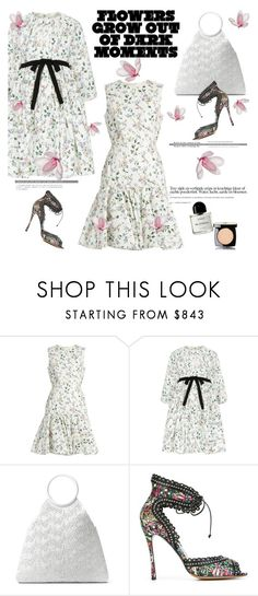 """""""Flowers always grow out🌷🌸🌹🌻🌼🌺"""" by naki14 ❤ liked on Polyvore featuring Giambattista Valli, Michael Kors, Tabitha Simmons, Byredo, Chanel, Flowers, print, Spring2017, trend2017 and microflowers"""