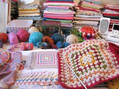 happy desk thursday with snippets of crochet | Emma Lamb
