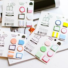 2pcs/lot Fresh Style Schedule Marker Self-Adhesive Memo Pad Sticky Notes Post It Bookmark School Office Supply