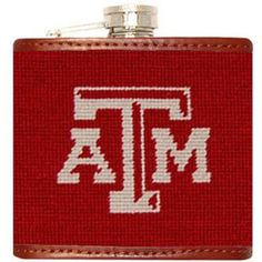Texas A & M University Needlepoint Flask in Maroon Smathers & Branson Central Park Manhattan, Southern Proper, Honeymoon Places, Day Drinking, College Gifts, Texas A&m, Night Photography, Barbour, Chicago Cubs Logo