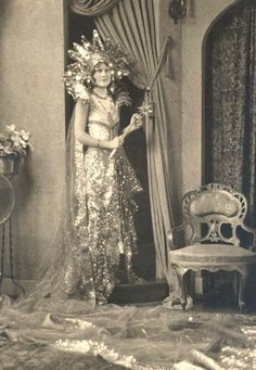 Lucy Dean Haden decked out for Galveston's Mardi Gras - from the Galveston and Texas History Center, Rosenberg Library