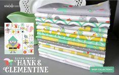 Hank & Clementine  https://www.michaelmillerfabrics.com/shop/collections/hank-clementine.html  #Fabric #michealmiller #gnomes #squirrel #garden