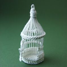 Beginner tutorial to create traditional birdcage out of wire and thread - Source: about.com