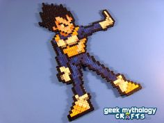 Vegeta Dragon Ball Z -  Perler Bead Sprite - Pixel Art Decoration. $12.00, via Etsy.