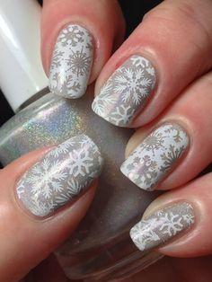 White Holo Snowflakes!