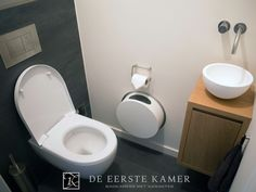 1000 images about toiletten en badkamers on pinterest toilets modern toil - Decoration toilette gris ...