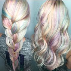Opal hair color design by @allydestouttt Allyson your work takes my breath away  Love you  #hotforbeauty by hotforbeauty