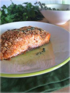 Filetto di salmone in crosta di pane al timo: Semplice veloce e a dir poco gustoso, un ottima idea per chi ha poco tempo e ha bisogno di Omega 3.