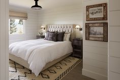 shiplap paneled walls, wood paneled walls, white wood paneling, horizontal wood paneling
