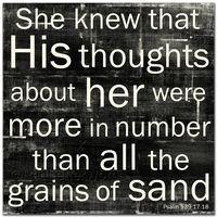 Grains of Sand ~ Psalm 139:17-18