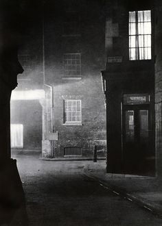 With his collaborator John Morrison, Harold Burdekin photographed the streets of the city of London in the dark for his book London Night, published in 193