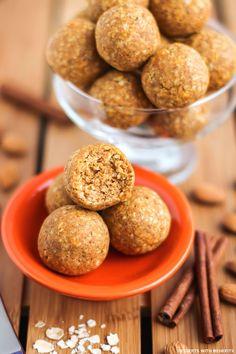 Healthy Fudgy Pumpkin Pie Energy Bites (refined sugar free, gluten free. vegan) - Desserts with Benefits