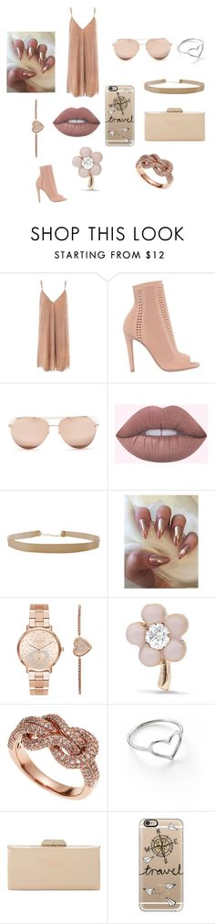 """""""Nude Lip"""" by nanip24 on Polyvore featuring beauty, Sans Souci, Gianvito Rossi, Linda Farrow, Humble Chic, Michael Kors, Alison Lou, Effy Jewelry, Jordan Askill and Dune"""