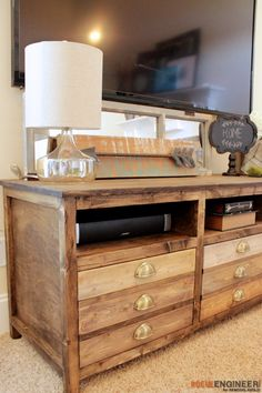 How to Build a Printmakers Media Console | Remodelaholic | Bloglovin'