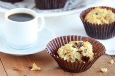 Coconut chocolate chunk muffins - Almond flour sweetened with honey