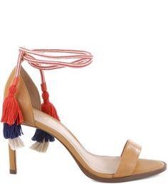 Sandália Barbicachos Multi Mel   Arezzo - O fechamento da sandália no tornozelo…