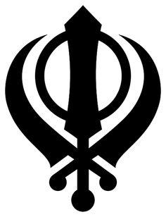 Khanda - Emblem of the Sikh faith, symbolizing the four pillars of the Sikh belief.