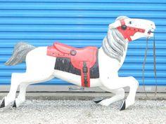 Vintage Carousel Horse Original Full Size Antique Merry Go Round Horses Decor