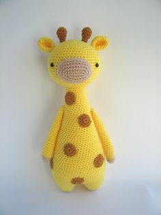 Girafa com Pintinhas  Receita de Amigurumi by LittleBearCrochets