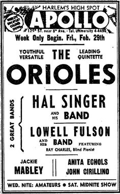 Lowell Fulson and his band, featuring Ray  Charles |a long with Charles and sax player Stanley Turrentine.