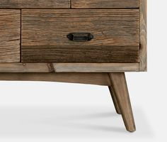 Chest of drawers, Retro style in reclaimed pine