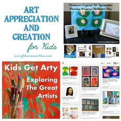 Art Appreciation and Creation for Kids - Montessori-inspired art-appreciation activities along with activities for creating art in the style of the great artists