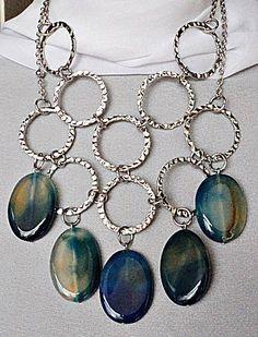 Collares Atesanales De Piedras Naturales: Linea Joyas Urbana - $ 440,00 en MercadoLibre