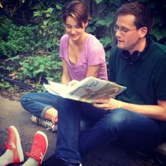 John Green Reading Oh the Places You'll Go on the set of the #tfiosmovie with @Shailene Engdahl Engdahl Woodley.