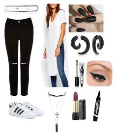 """""""Blvck n wh!t3"""" by probablyme ❤ liked on Polyvore"""