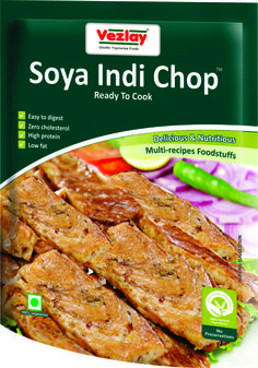 Soya Indi Chop Is Tasty And Nutritious Vegetarian Foodstuff. It Is Designed To Keep Your Protein Intake Up To The Level Required To Maintain A Healthy And Balanced Diet Without Having To Consume Large Quantities Of Non-Veg Foodstuff. Made From Soya & Natural Ingredients, Soya Indi Chop Can Be Prepared In Different Recipes As Per Choice And Taste Of Yours And Your Family.