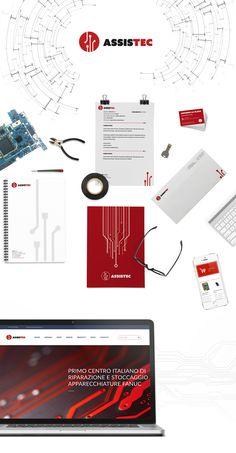 Mock up sito web e immagine coordianta Assistec