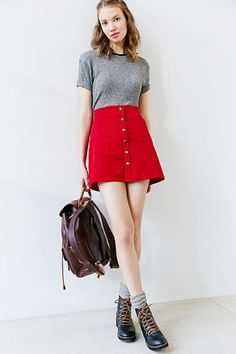 Red skirt. Quite short but i want it anyway