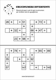 These multiplication worksheets cover everything from times tables to multiplying with decimals. We feature multiplication worksheets for kids of every level. Math Multiplication, Maths Puzzles, Crossword Puzzles, Fun Math Games, Math Activities, Children Activities, Fourth Grade Math, Homeschool Math, Math Facts