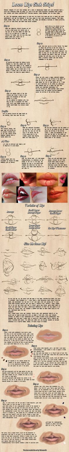 how to draw lips. Wow, if it takes this much time to do lips....how long will it take for me to do the rest of the picture?: