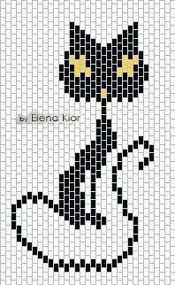 Black Cat Peyote Stitch