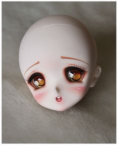 Sq-labs Ren head by Silvee Van Toor Anime Dolls, Ooak Dolls, Manga, Felt Crafts Dolls, Chibi, Doll Painting, Polymer Clay Dolls, Smart Doll, Doll Repaint