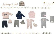 La boutique de Noël Oscar et Valentine.  Vêtements en cachemire pour enfants et bébés
