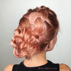 Rose Gold Fish Tail Braid Updo