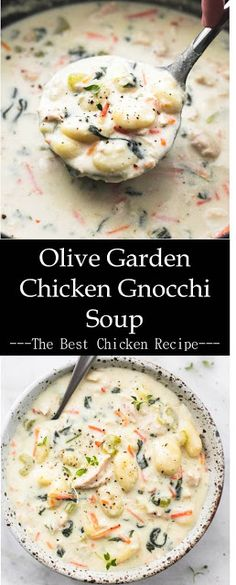Olive Garden Chicken Gnocchi Soup >> - Chicken crockpot recipes - > Olive Garden Chicken Gnocchi Soup >> The Effec - Gnocchi Recipes, Soup Recipes, Healthy Recipes, Recipes Dinner, Crockpot Recipes, Dinner Ideas, Olive Garden Chicken Gnocchi Soup Recipe, Chicken Soup, Chicken Wings