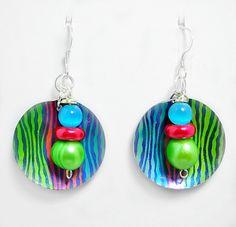 Colorful Metal Earrings