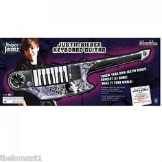 PaperJamz Justin Bieber Keyboard Guitar With 3 Bonus Hits - Brand New In Box