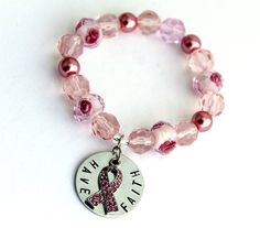 Have Faith Hand stamped Breast Cancer Awareness by CICinspireme, $30.00