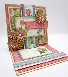 Hello Friend with Graphic 45 by pinkcloud - Cards and Paper Crafts at Splitcoaststampers