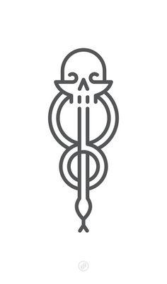 Harry Potter tats - A Dark Mark - White Art Print Harry Potter Dark Mark, Harry Potter Icons, Harry Potter Tattoos, Dark Mark Tattoos, Hp Tattoo, Art Tattoos, Desenhos Harry Potter, Future Tattoos, Slytherin