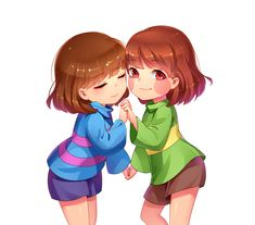 Image result for chara and frisk