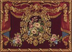 Velvet curtains & rose garland