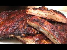 """Memphis Spare Ribs recipe.  Forget the barbecue sauce! It's all about the dry rub for these Tennessee style Pork Spare Ribs. And it's real easy to do """"low and slow"""" on the old barbecue grill with these tips by the BBQ Pit Boys."""
